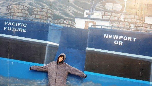 ניופורט מתהדרת בכמה וכמה ציורי קיר ענקיים בנושאי ים