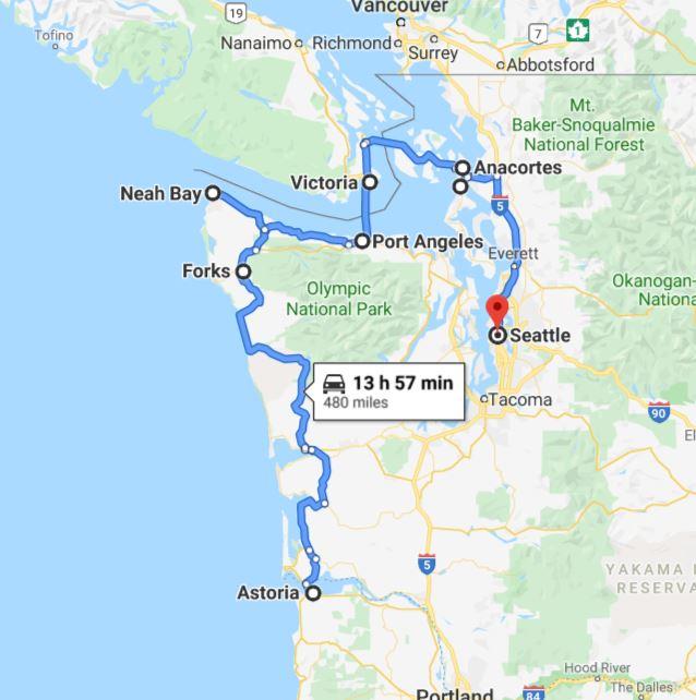 מסלול וושינגטון אורגון - חלק שני