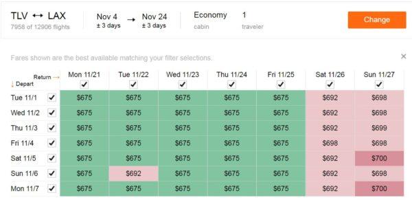 מחירים מוזלים לטיסות לחוף המערבי