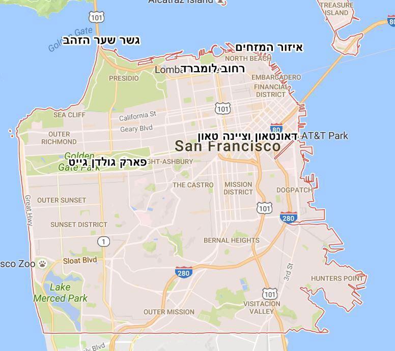 מפת סן פרנסיסקו