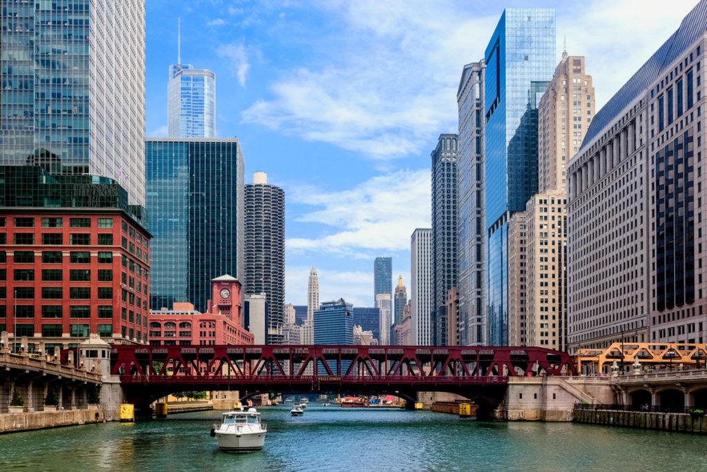 שיקגו - מראה מהנהר